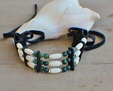 Native American Bracelet w/ Moss Agate Cherokee made William Lattie Cert Auth