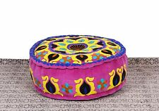 VELVET EMBROIDERED POUFS FOOTSTOOLS COVER OTTOMAN POOFS COVER