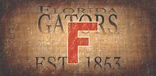 "Florida Gators Throwback Retro Heritage Est 1853 Wood Sign 12"" x 6"" Wall Decor"