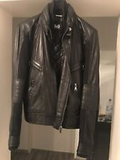 Dolce Gabbana D&G Lederjacke Leather Jacket Black 52 UVP899€ Top!