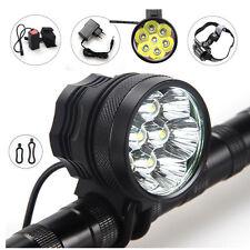 10000lm 7 CREE XM-L T6 LED Fahrradlampe Scheinwerfer kopflampe Licht Set m.akku