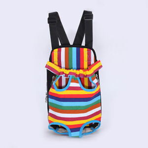 Pets Supplies Travel Pet Dog Carrier Backpack Bag Chest Pack Leg Out Front Style