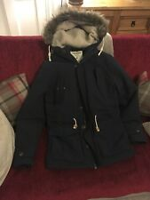 Jack & Jones Mens Faux Fur Hooded Parka Navy Size Small RRP £69.99