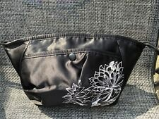 New FCUK Black Lined Make-Up / Toiletry Bag