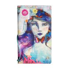 NEW Jane Davenport Canvas Travelers Art Journal Notebook Butterfly Book, Girl