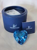 SWAROVSKI SCS AQUA ETERNITY HEART #844184 BRAND NEW IN BOX BLUE LOVE RARE F/SH