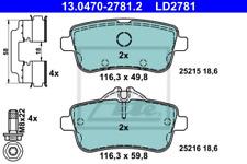 Ceramic Bremsbelagsatz, Scheibenbremse Hinterachse ATE 13.0470-2781.2