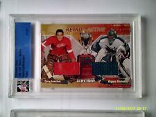 2001-02 Ultimate Retro Active Sawchuck - Nabokov #1/1 RARE! Red Wings Sharks HOF
