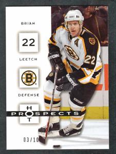 2005-06 Fleer Hot Prospects White Hot #8 Brian Leetch #/10 Boston Bruins
