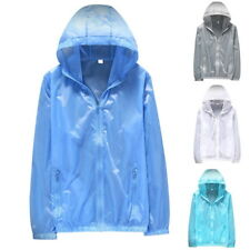 Womens Mens Thin Skin Jackets Quick Dry Outdoor Jackets Waterproof Sun&UV Coats