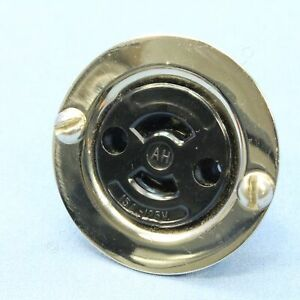 Arrow Hart Armored Midget Locking Flanged Outlet Receptacle ML-1R 15A 125V 7468
