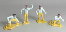 NOT Scalextric Pit Crew/Pit Men x 4 (PAINTED) Ninco SCX Airfix FLY & MORE 1.32