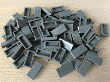 LEGO ® 50x Fliesen - 1x2 dunkelgrau - 3069 - gray tile - Kacheln - Fliese - grau