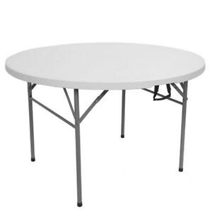 48inch Round Folding Table Outdoor Folding Utility Table for Pinic Party Dinner