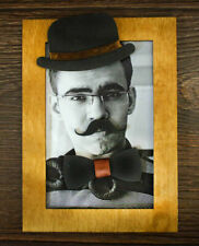 Men Wooden Photo Frame Hand Made DIY Gentlemen Funny Mustache