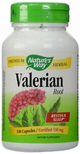 Nature's Way Valerian Root Capsules, 100 Ct (Pack of 12)