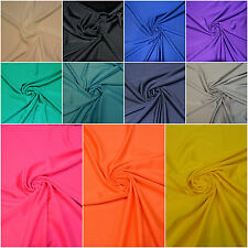 LYCRA FABRIC 4 WAY STRETCH SPANDEX MATERIAL WIDTH 150 CM 19 PLAIN COLOURS