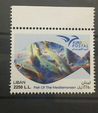 Lebanon MNH 2016 Topical Fish Of The Mediterranean Sea Stamp Euro med Postal
