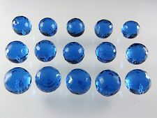 Aquamarine Spinel 14mm Round Briolette Cut Half Drilled Loose Bead Gemstones