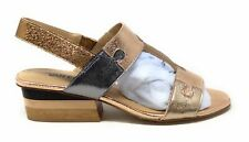 Vaneli Women's Channa Puzzle Piece Heeled Sandal Rose Gold Silver Leather 8.5 M