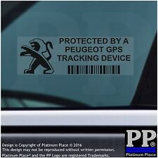5 x Peugeot GPS Tracking Device Security BLACK Stickers-206,Car Alarm Tracker
