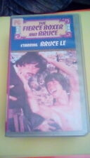 The Fierce Boxer and Bruce 1986 VHS Bruce Lee karate martial arts bloody action
