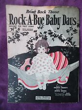Vintage 1924 sheet music Lullaby Fox Trot Bring Back Those Rock a Bye Baby Days