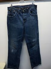 AX Armani Exchange Baggy Men's Blue Jeans Orange/red Stitching Size 33 Regular