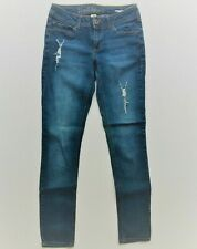 Mudd Juniors Skinny Jeans Jeggings Size 5 Medium Wash Stretch Distressed Ripped