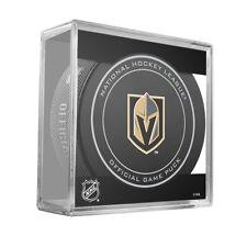 2017 Las Vegas Golden Knights W/100th Logo Back Game Hockey Puck W/Cube