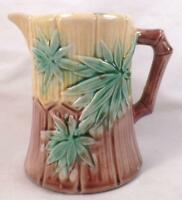 Etruscan Majolica Bamboo Creamer Antique Griffin Smith & Hill Cream Pitcher