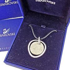 Auth Swarovski Necklace Crystal Ladies used J20561