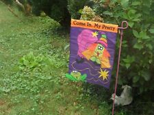 Come In, My Pretty Halloween Garden Flag, Embroidered by Evergreen