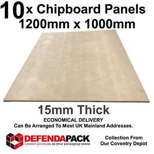 10 120cm x 100cm x 15mm Chipboard Sheets Chip Board Panels Lofts Flooring Floor