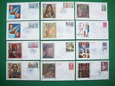 Job lot of 12 French first day covers from 1970-71