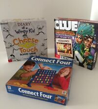 Kids Game Bundle - Clue Carnivale - Diary Of A Whimpy Kid - Connect 4 - Complete