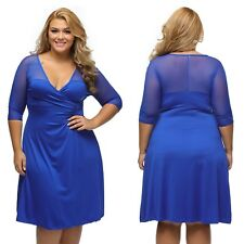 Abito Scollo nudo Taglie forti Grandi Curvy Formosa Plus Size Party Dress XXL
