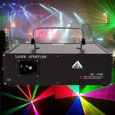 1500mW RGB Laser Luce Disco Multiraggio StageLaser DMX512 DJ Club Effetto Light