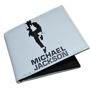 Michael Jackson Wallet MJ King of Pop Bifold Mens Womens Unisex Card Cash Holder