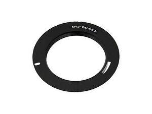 M42 Lens to Pentax PK Mount Camera Body Adapter DSLR SLR K-r K-5 K-3 - UK SELLER