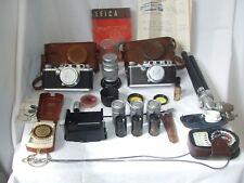 Leica COLLEZIONE inludes IIIC e IIIa macchine fotografiche e molto altro