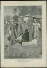 """1888 - Antique Print FINE ART """"For Faith and Freedom"""" Walter Besant   (104)"""