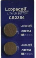 2 X NEW CR2354 Lithium 3V Button Cell Batteries For Portable Devices *LOOPACELL*
