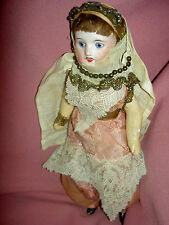 RARE French signed bisque SFBJ 60 PARIS antique harem doll all orig. costume