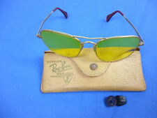 VINTAGE BAUSCH LOMB RAY BAN SHADED YELLOW AMBER USA SHOOTING AVIATION GLASSES