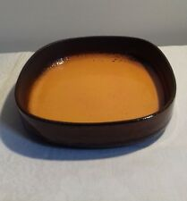 Plat creux orange vintage West Germany