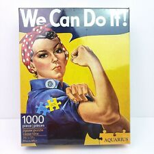 Smithsonian We Can Do It! Rosie The Riveter 1000 Piece 20in x 27in Jigsaw Puzzle
