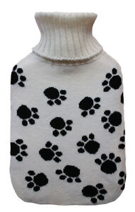 Paws Print Knitted 2.0L Hot Water Bottle