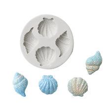 Sea Shell Silicone Fondant Mould Cake Sugarcraft Topper Decorating Conch Mold 3D