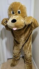 PUPPY DOG Mascot Costume Adult Brown Plush Holiday Greeter Parade Character